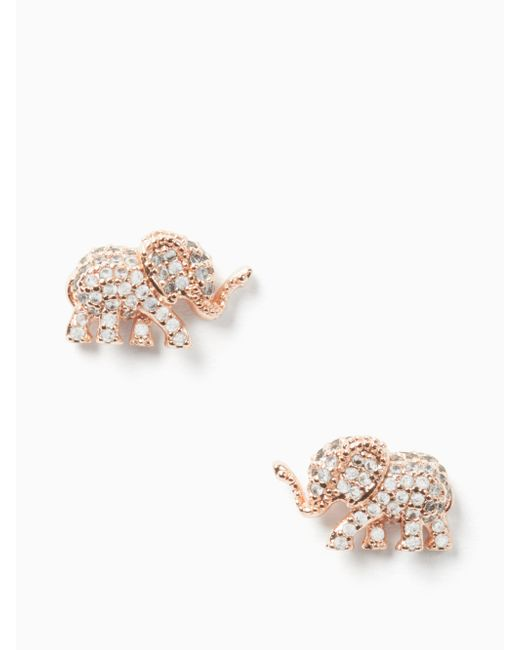 Kate Spade - Multicolor Things We Love Pave Elephant Studs - Lyst