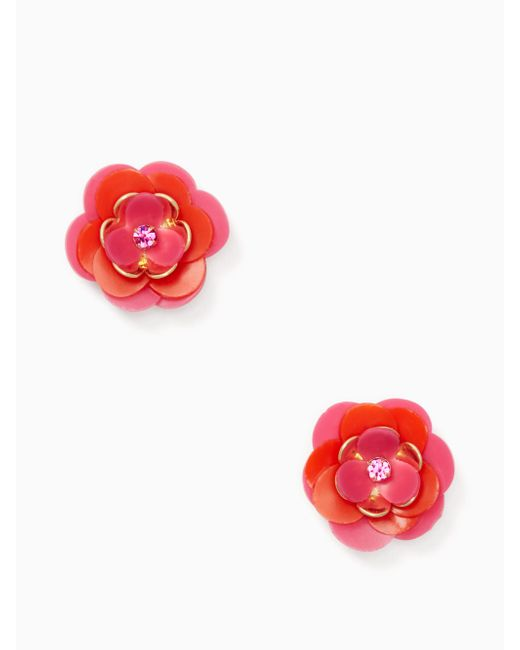 Kate Spade | Multicolor Rosy Posies Statement Studs | Lyst