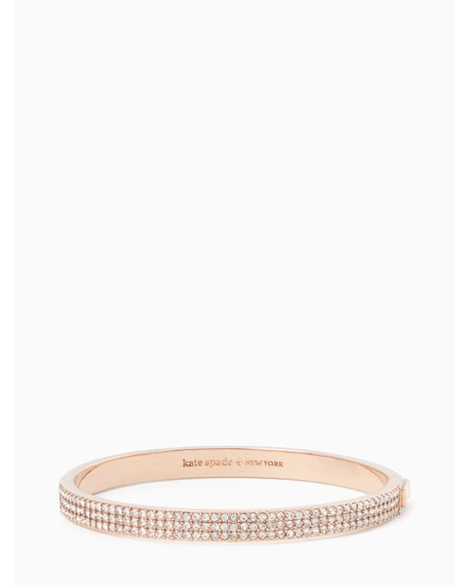 Kate Spade - Multicolor Heavy Metals Pave Row Bangle - Lyst