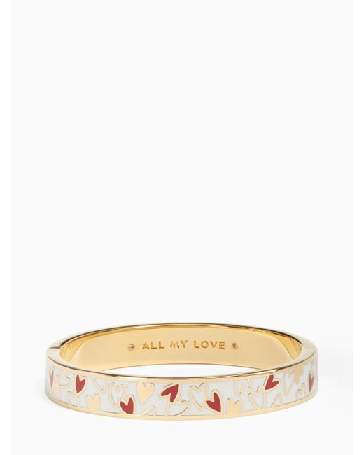 Kate Spade   Multicolor All My Love Hinged Idiom Bangle   Lyst