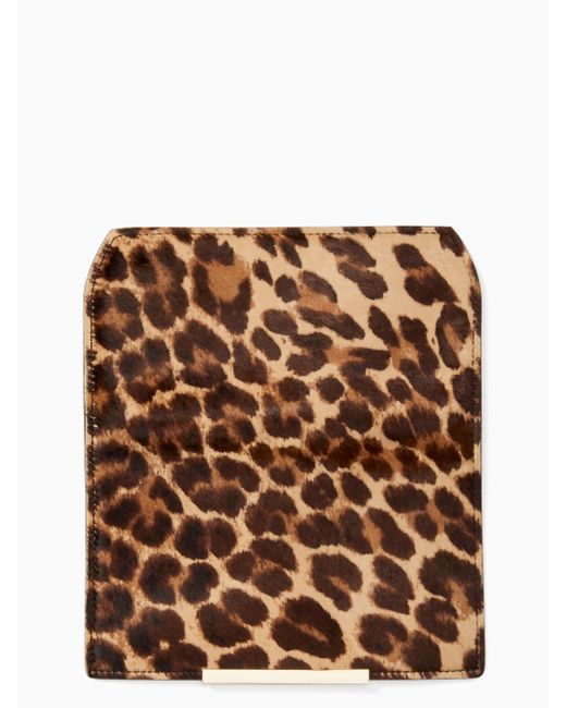 Kate Spade - Multicolor Make It Mine Leopard Hair Calf Flap - Lyst