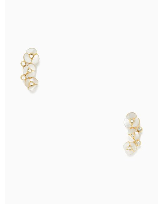 Kate Spade - Multicolor Disco Pansy Ear Pin - Lyst