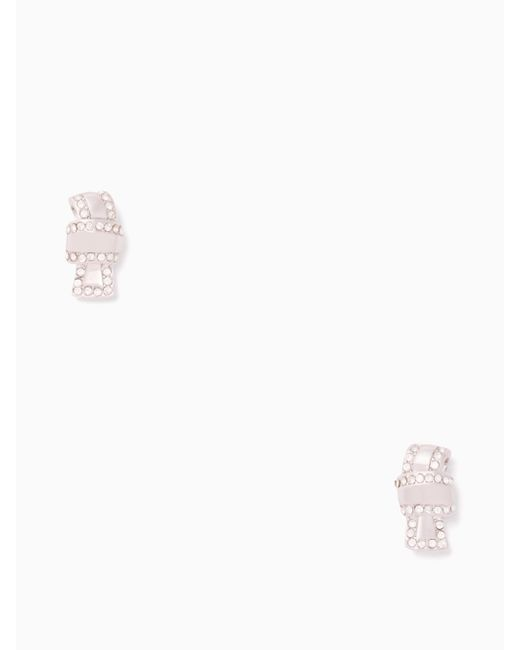 Kate Spade | Metallic All Tied Up Pave Knot Studs | Lyst