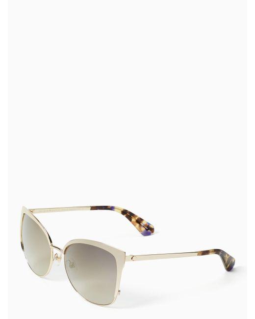 Kate Spade | Metallic Genice Sunglasses | Lyst