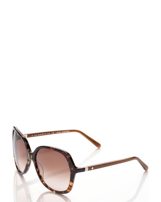 Kate Spade | Brown Lorelle Sunglasses | Lyst