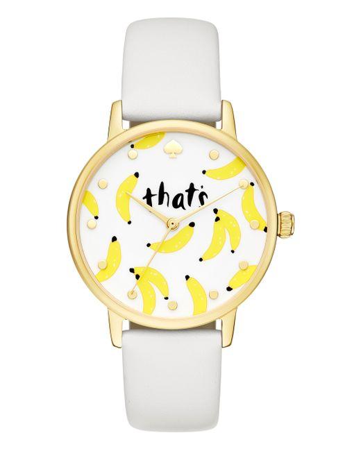 Kate Spade   White That's Bananas Metro Watch   Lyst