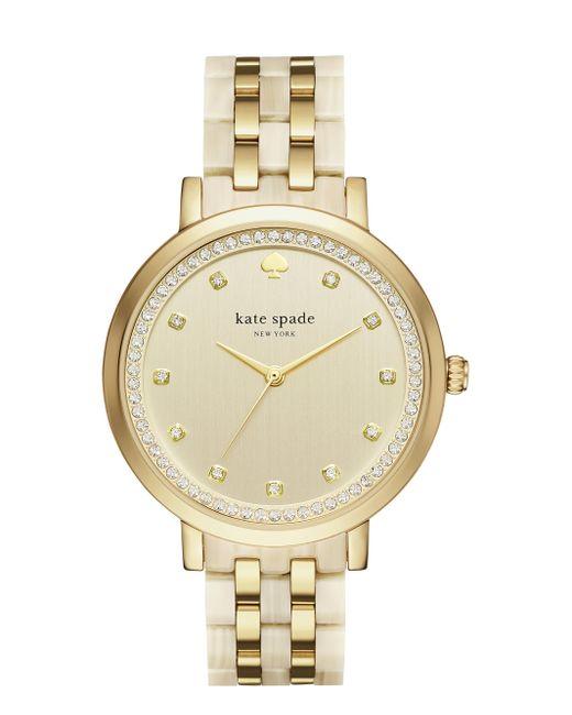 Kate Spade | Metallic Gold And Horn Monterey Watch | Lyst