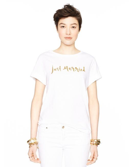 kate spade new york | White Just Married Tee | Lyst