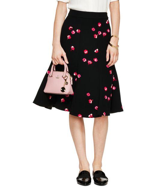 kate spade new york | Black Falling Florals Skirt | Lyst