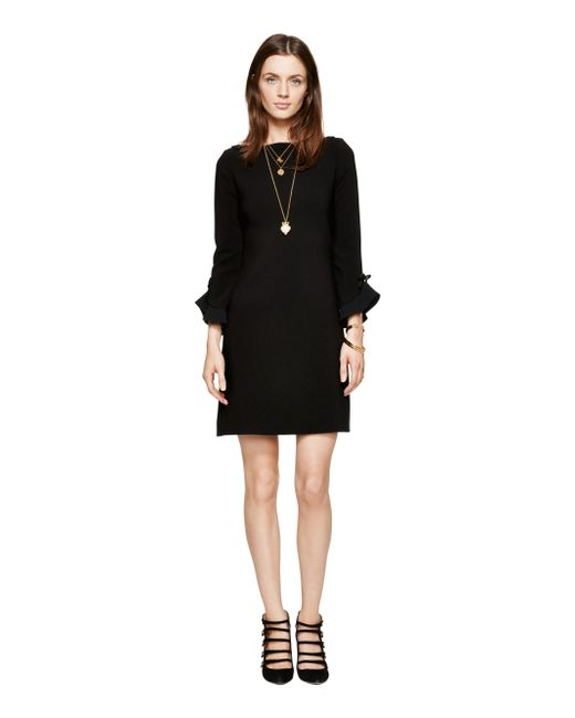 kate spade new york | Black Ruffle Sleeve Dress | Lyst