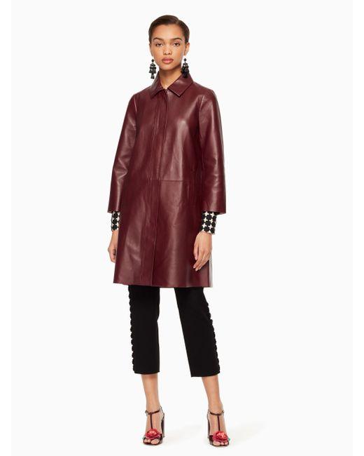 Kate Spade | Red Braden Coat | Lyst