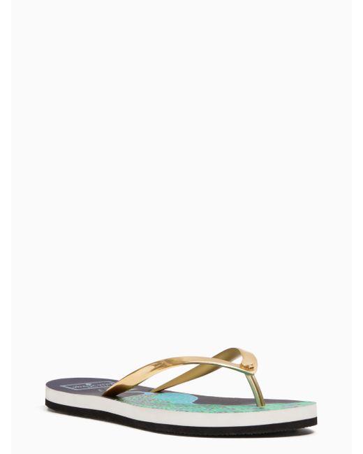 Kate Spade   Metallic Nassau Sandals   Lyst
