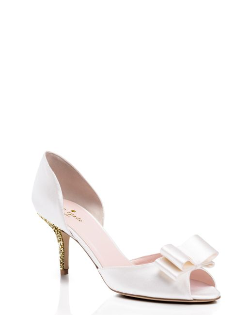 Kate Spade | White Sela Heels | Lyst