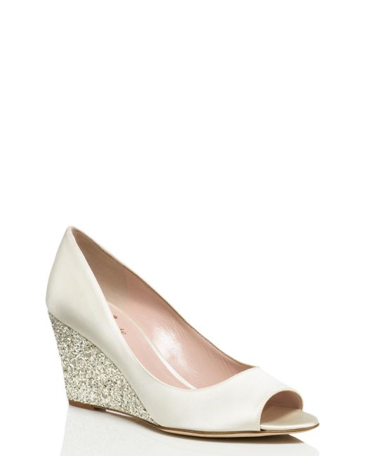 Kate Spade | White Radiant Wedges | Lyst