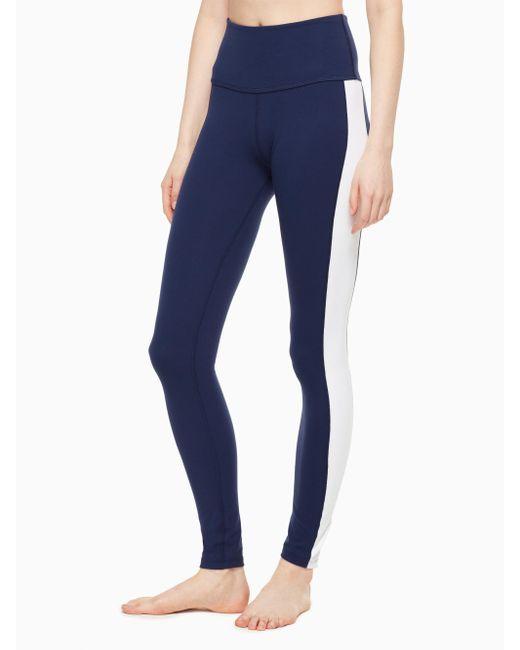 Kate Spade   Blue Tux High Waisted Long Legging   Lyst