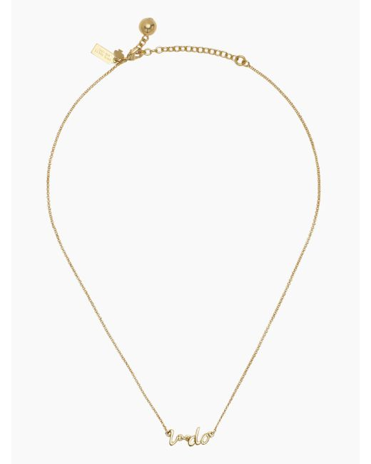 Kate Spade | Metallic Say Yes I Do Necklace | Lyst