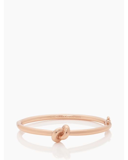kate spade new york | Pink Sailor's Knot Hinge Bangle | Lyst