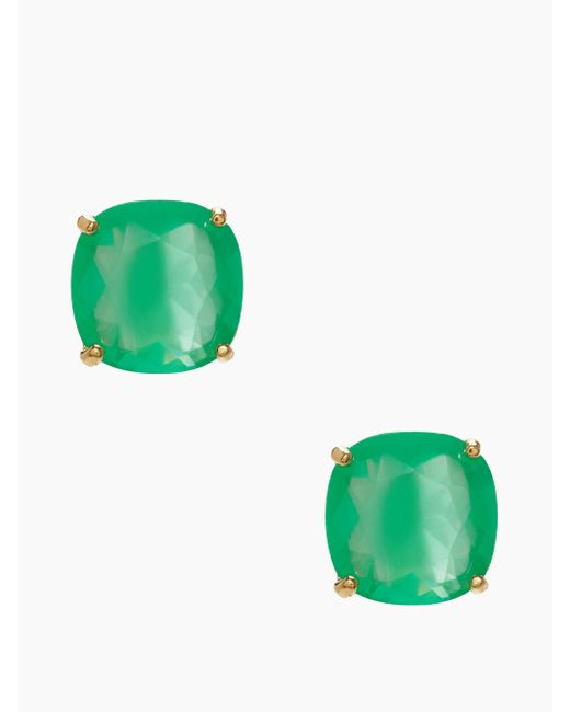 kate spade new york | Green Kate Spade Small Square Studs | Lyst