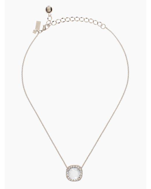 kate spade new york | Metallic Basket Pave Pendant | Lyst