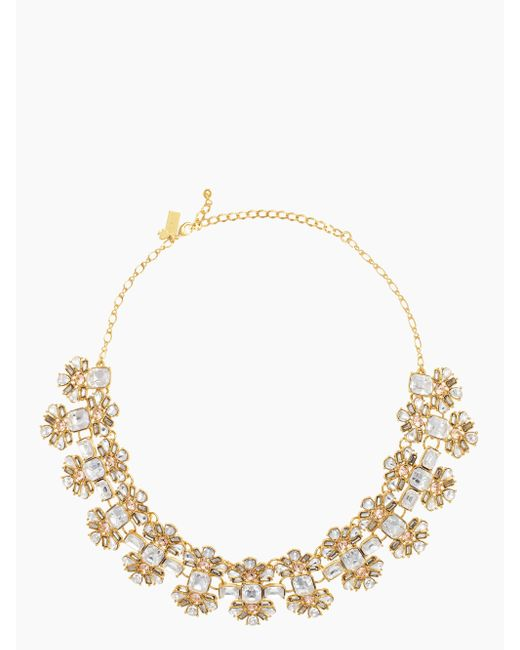 Kate Spade | Metallic Crystal Arches Necklace | Lyst
