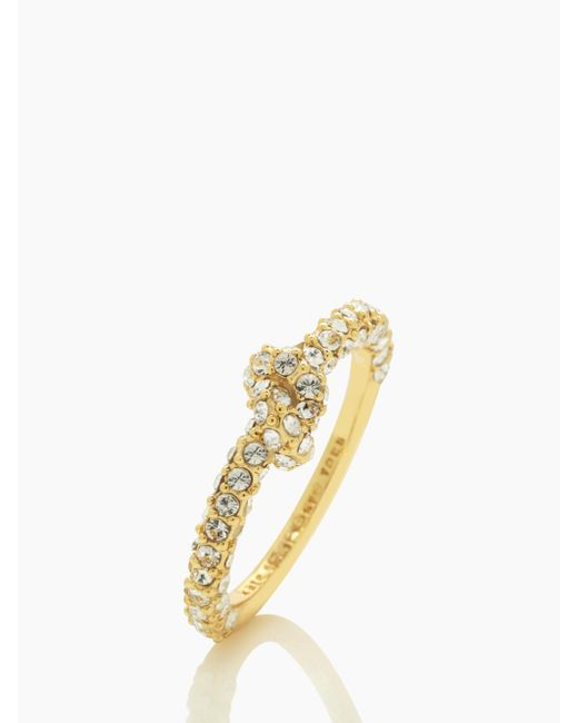 Kate Spade | Metallic Sailor's Knot Pave Ring | Lyst