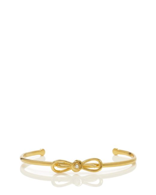 Kate Spade | Metallic Dainty Sparklers Bow Cuff | Lyst