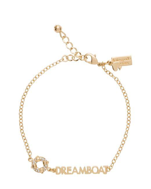 kate spade new york | Metallic 'north Court' Pave Initial Charm Bracelet | Lyst