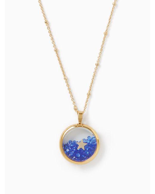 Kate Spade | Black Cause A Stir Mini Pendant Necklace | Lyst