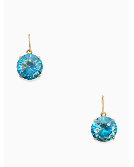 Kate Spade | Blue Shine On French Wire Drop Earrings | Lyst