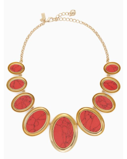 Kate Spade | Red Bright And Bold Statement Necklace | Lyst