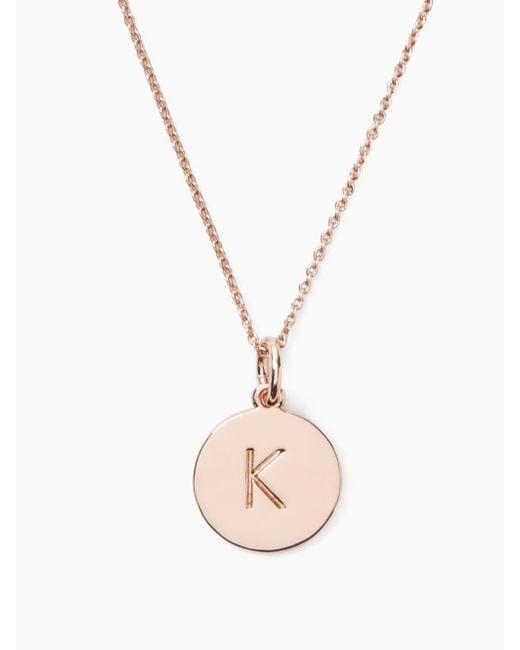 Kate Spade | Metallic Initial Pendant | Lyst