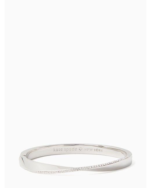 Kate Spade - Metallic Do The Twist Pave Hinged Bangle - Lyst