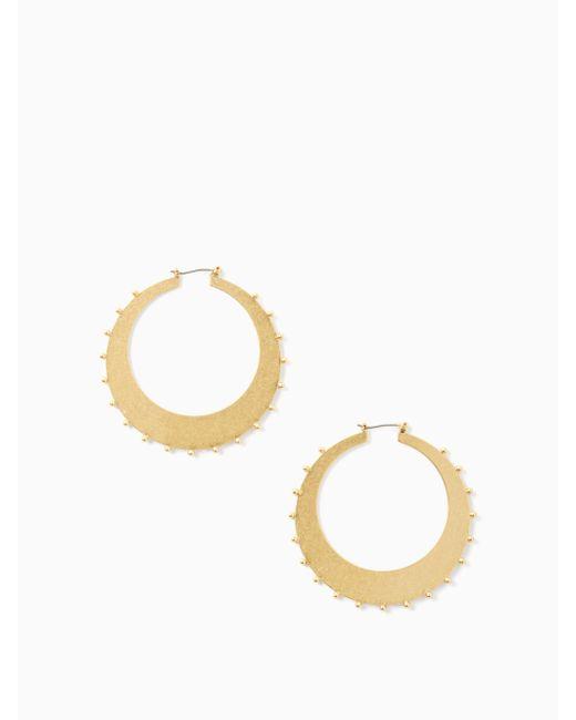 Kate Spade - Metallic Gold Standard Studded Hoops - Lyst