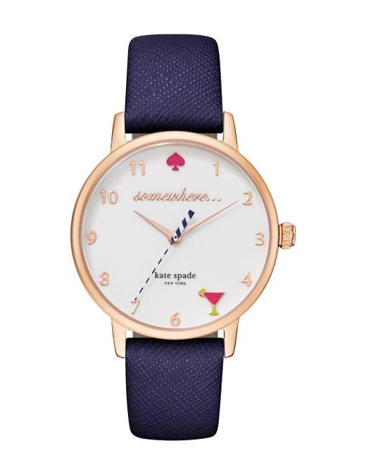 Kate Spade | Blue 5 O'clock Metro Watch | Lyst