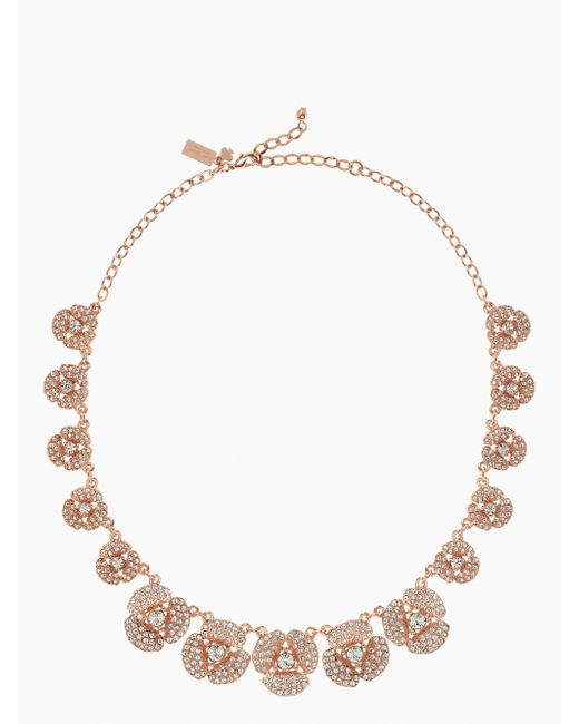 Kate Spade | Pink Disco Pansy Single Strand Short Necklace | Lyst