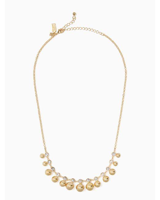 Kate Spade - Metallic Golden Girl Mini Necklace - Lyst