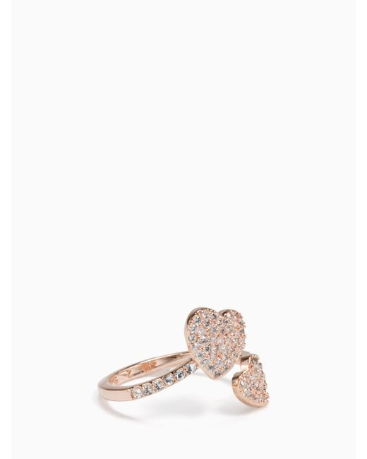 Kate Spade - Multicolor Yours Truly Pave Heart Ring - Lyst