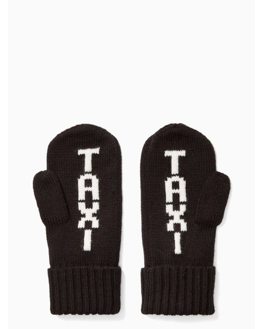 Kate Spade - Black Taxi Mittens - Lyst