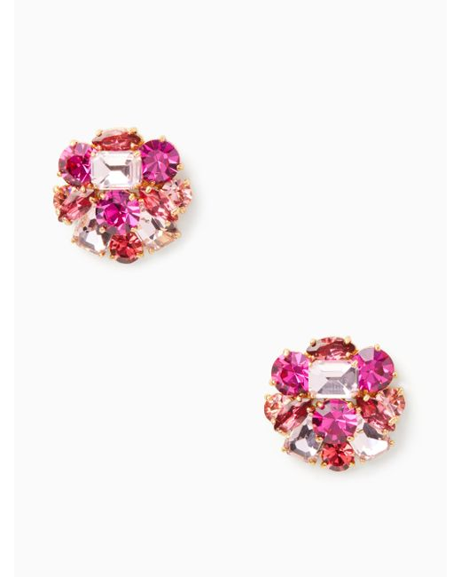 Kate Spade - Pink Shine On Cluster Studs - Lyst