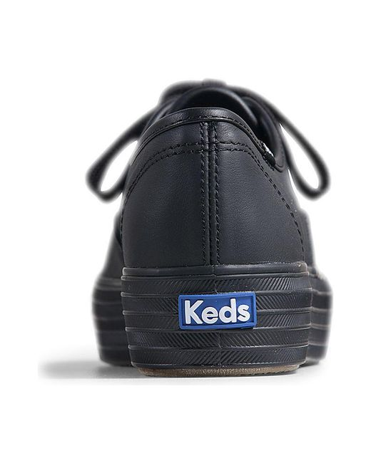 55f2a71fdc754 ... Keds - Black Triple Leather - Lyst ...