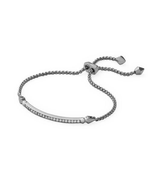 Kendra Scott - Metallic Ott Adjustable Chain Bracelet In Hematite - Lyst