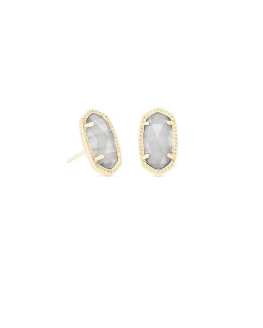 Kendra Scott - Metallic Ellie Gold Stud Earrings In Slate - Lyst