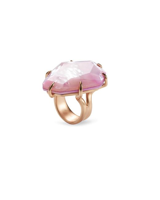Kendra Scott - Multicolor Megan Rose Gold Cocktail Ring In Lilac Mother Of Pearl - Lyst