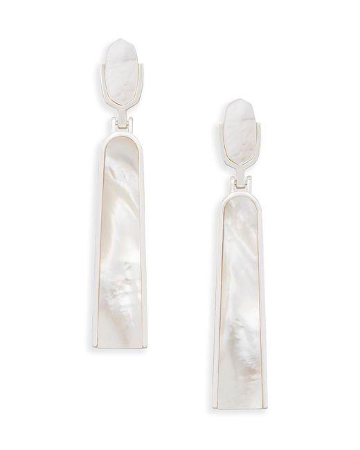 Kendra Scott - White Carson Statement Earrings - Lyst