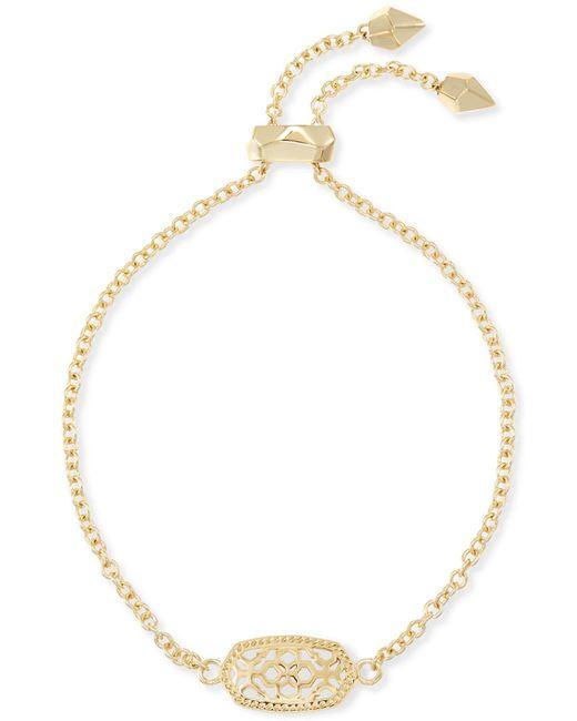 Kendra Scott - Metallic Elaina Gold Adjustable Chain Bracelet - Lyst