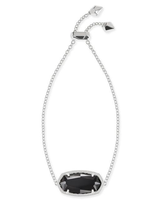 Kendra Scott - Daisy Silver Adjustable Chain Bracelet In Black - Lyst