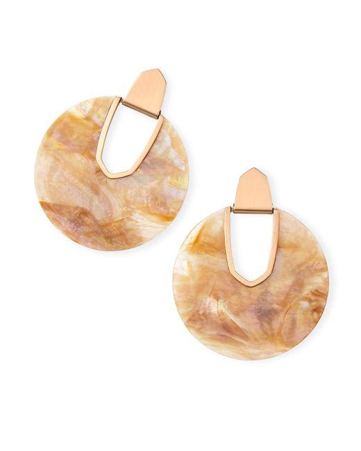 Kendra Scott - Metallic Diane Rose Gold Statement Earrings - Lyst
