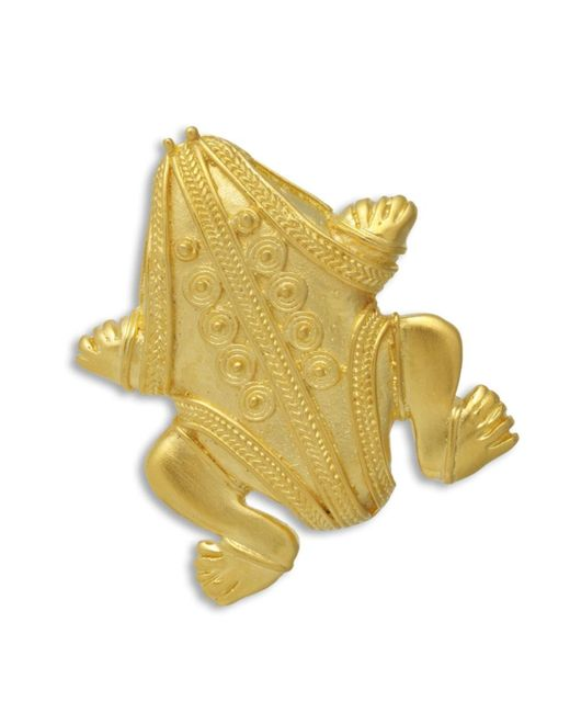 Kenneth Jay Lane | Metallic Pre-columbian Frog Brooch | Lyst