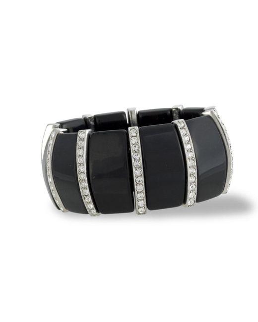 Kenneth Jay Lane | Black And Crystal Art Deco Bracelet | Lyst
