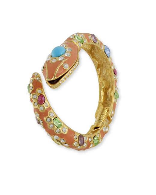 Kenneth Jay Lane | Pink Coral Snake Cuff | Lyst